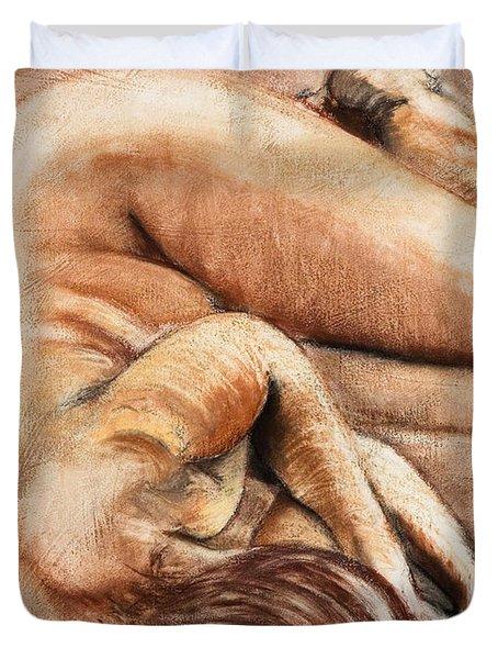 Slumber Pose Duvet Cover by Kerryn Madsen-Pietsch