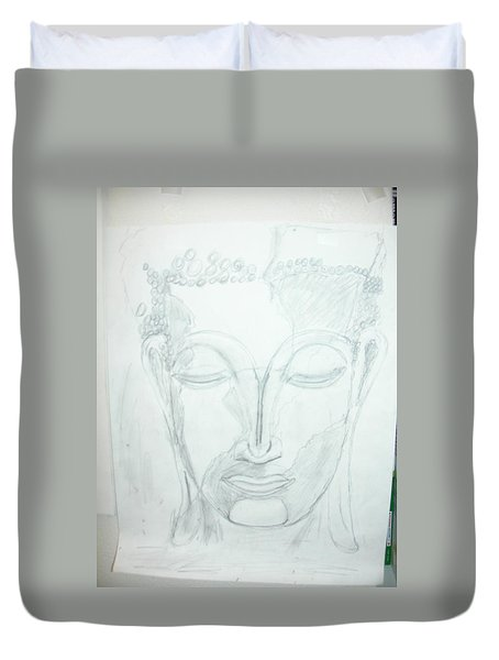Slumbering Buddha Duvet Cover by Sharyn Winters