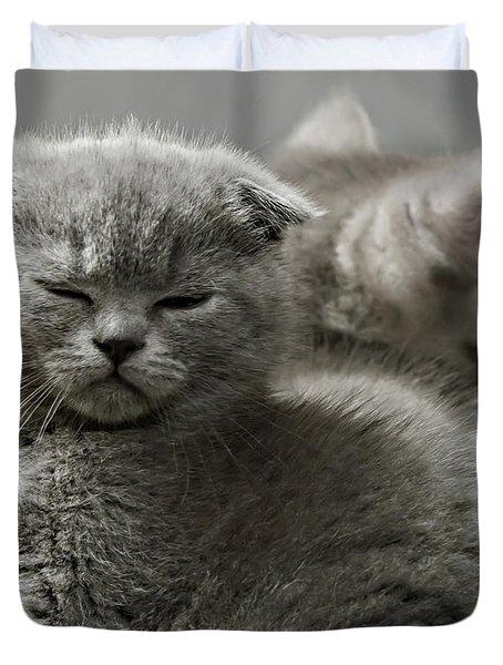 Slumbering Cat Duvet Cover