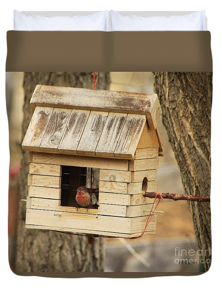 Small Bird Living Country Style In Colorado Duvet Cover