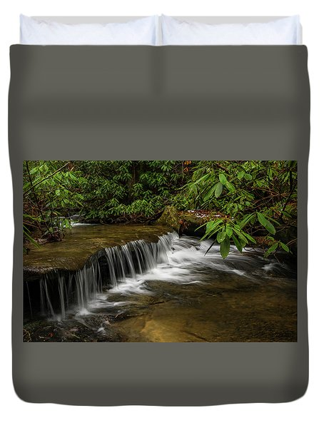 Small Cascade On Pounder Branch. Duvet Cover