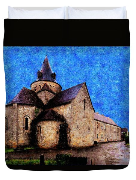 Small Church 1 Duvet Cover by Jean Bernard Roussilhe