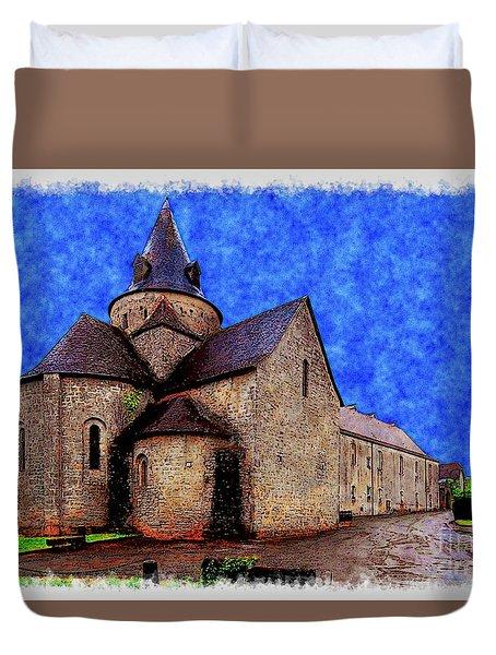 Small Church 2 Duvet Cover by Jean Bernard Roussilhe