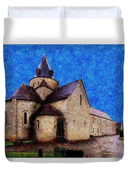 Small Church 3 Duvet Cover by Jean Bernard Roussilhe