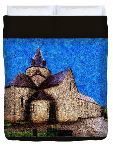 Small Church 4 Duvet Cover by Jean Bernard Roussilhe