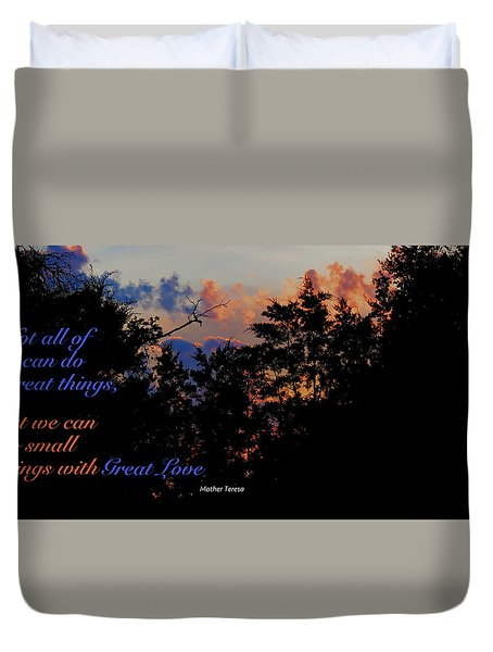 Duvet Cover featuring the photograph Small Counts by David Norman