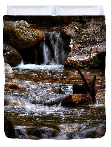 Small Falls Duvet Cover by Elaine Malott