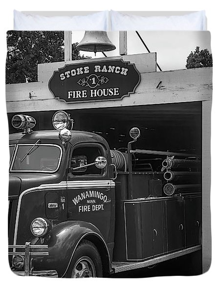 Small Fire House Duvet Cover