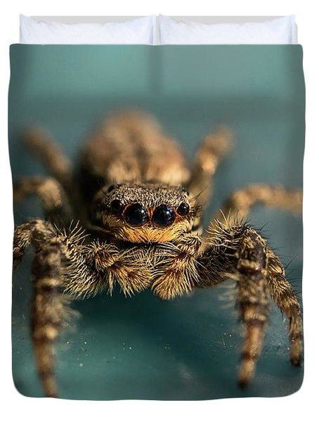 Small Jumping Spider Duvet Cover