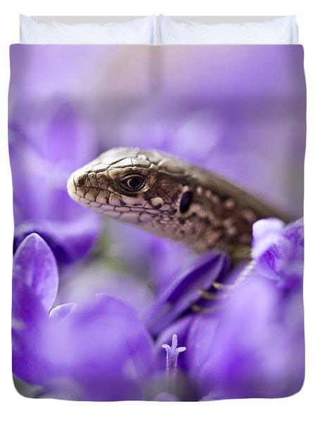 Small Lizard Duvet Cover