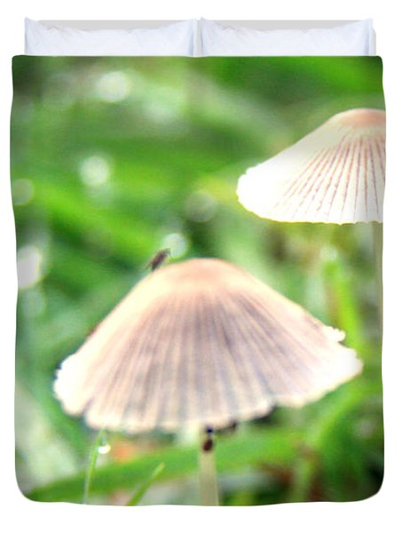 Small Mushrooms Duvet Cover