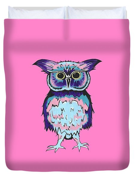 Small Owl Pink Duvet Cover