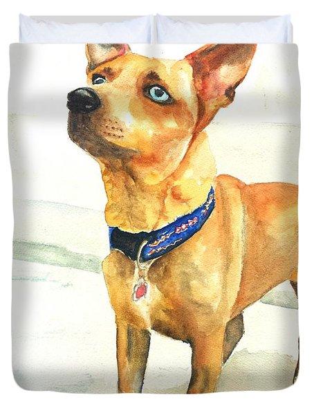 Small Short Hair Brown Dog Duvet Cover