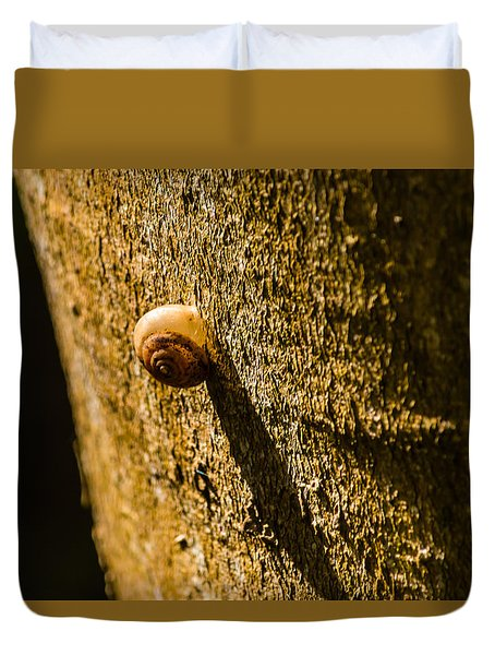 Small Snail On The Tree Duvet Cover