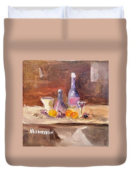 Small Still Life Duvet Cover