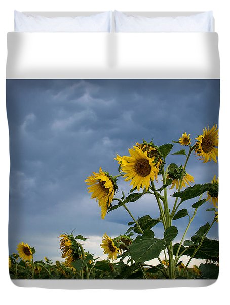 Small Sunflowers Duvet Cover