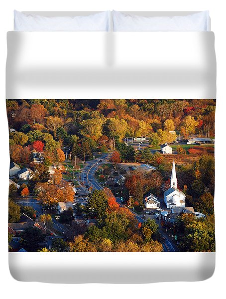 Small Town Aerial Duvet Cover
