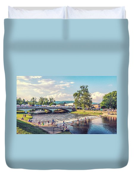 Small Town America Duvet Cover