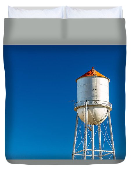 Small Town Water Tower Duvet Cover