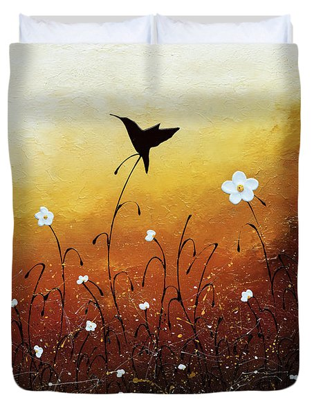 Duvet Cover featuring the painting Small Treasure by Carmen Guedez