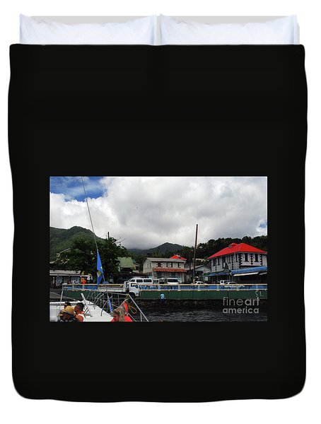 Duvet Cover featuring the photograph Small Village by Gary Wonning