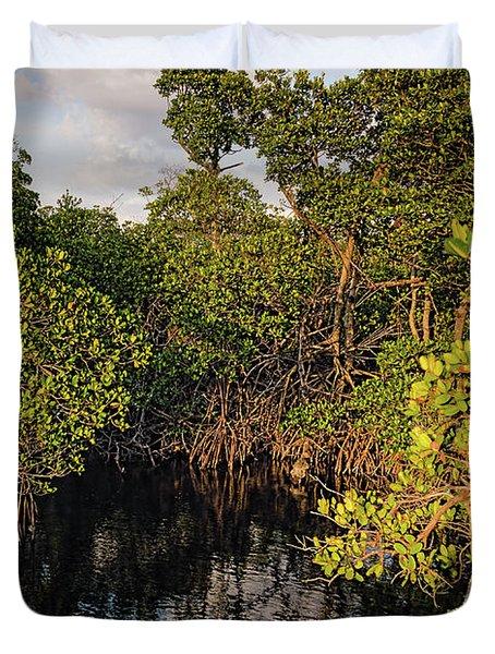 Small Waterway In Vitolo Preserve, Hutchinson Isl  -29151 Duvet Cover