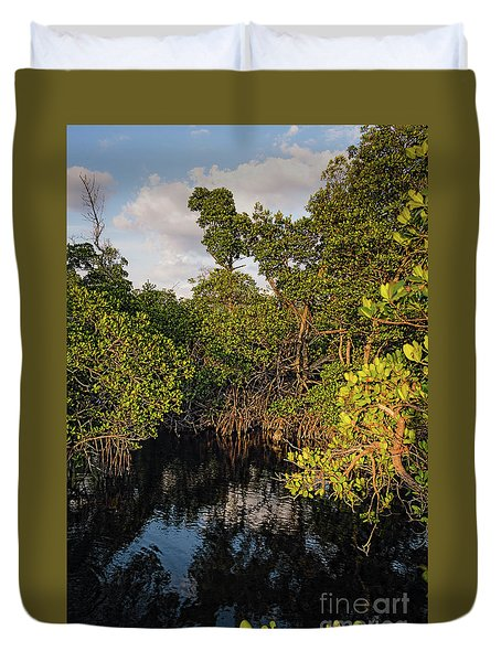 Duvet Cover featuring the photograph Small Waterway In Vitolo Preserve, Hutchinson Isl  -29151 by John Bald