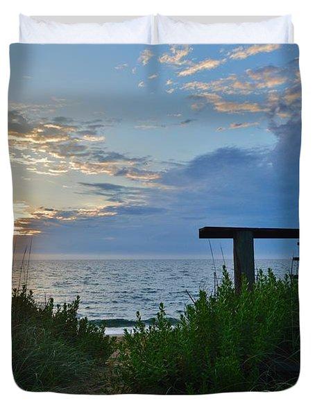 Small World Sunrise   Duvet Cover