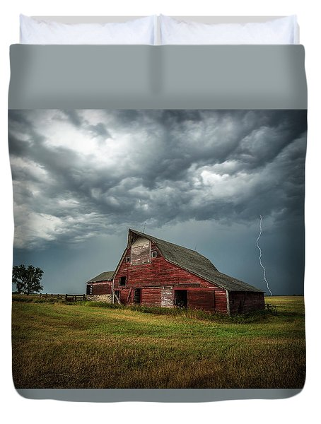 Duvet Cover featuring the photograph Smallville by Aaron J Groen