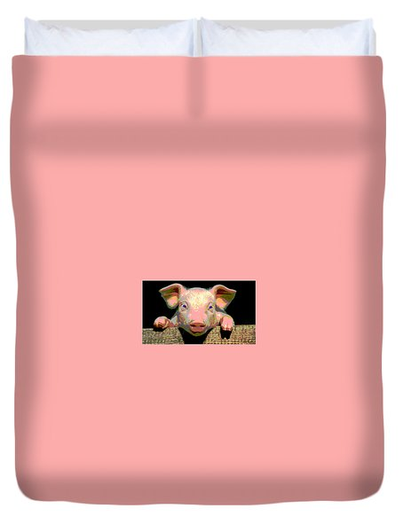 Smart Pig Duvet Cover by Charles Shoup