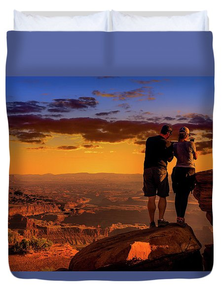 Smartphone Photo Opportunity Duvet Cover