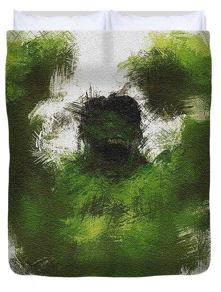 Smashing Green Duvet Cover by Miranda Sether