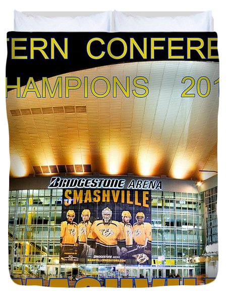 Smashville Western Conference Champions 2017 Duvet Cover