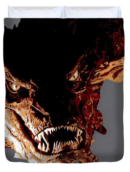Smaug The Terrible Duvet Cover by Kayleigh Semeniuk