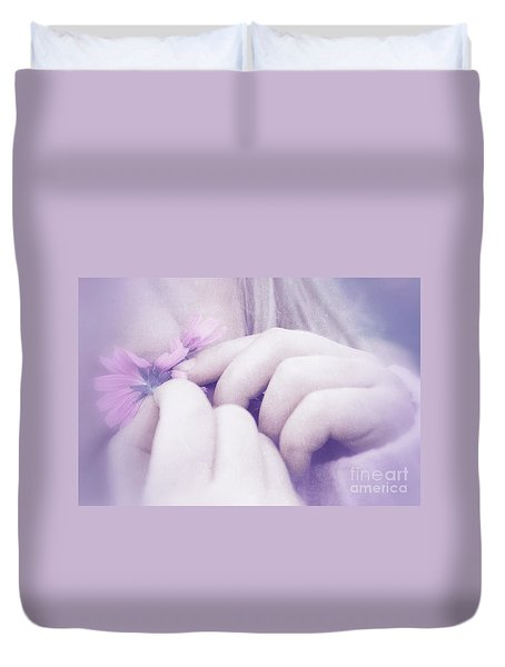 Duvet Cover featuring the digital art Smell Life - V07t3 by Variance Collections