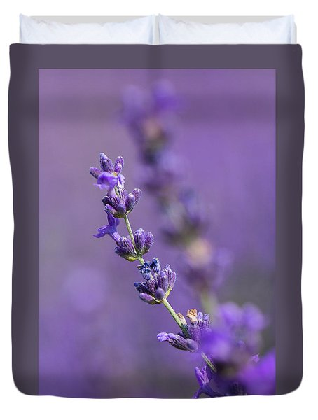 Smell The Lavender Duvet Cover