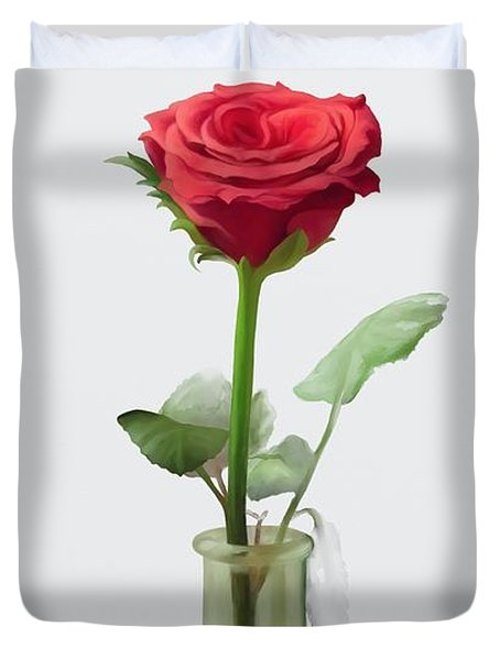 Smell The Rose Duvet Cover