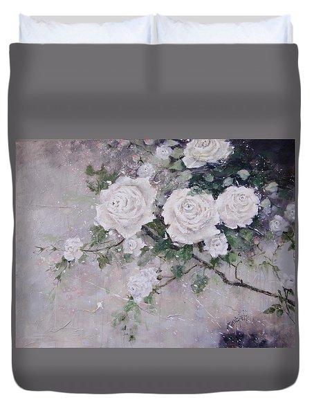 Smell The Roses  Duvet Cover by Laura Lee Zanghetti