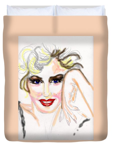 Smile For Me Marilyn Duvet Cover