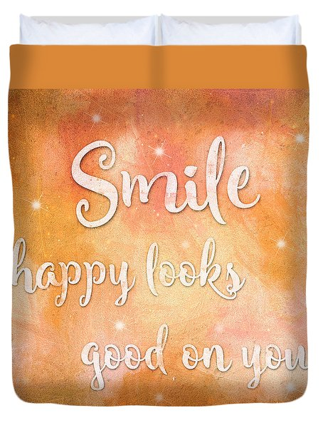 Smile Duvet Cover by Guy Dicarlo