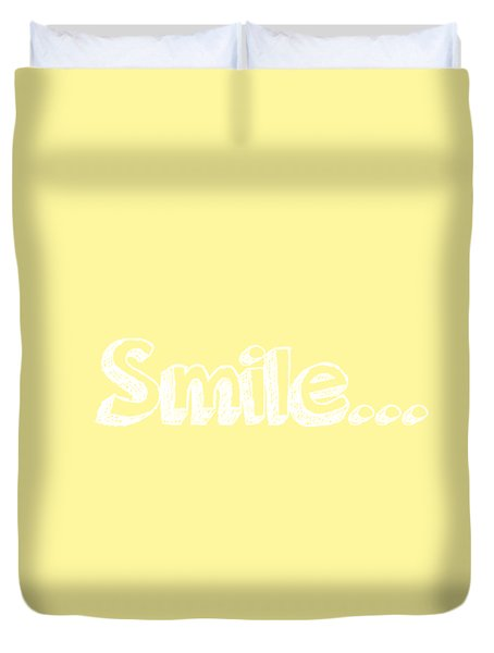 Smile Duvet Cover by Inspired Arts