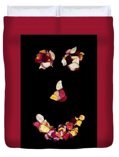 Smiley Rose Duvet Cover