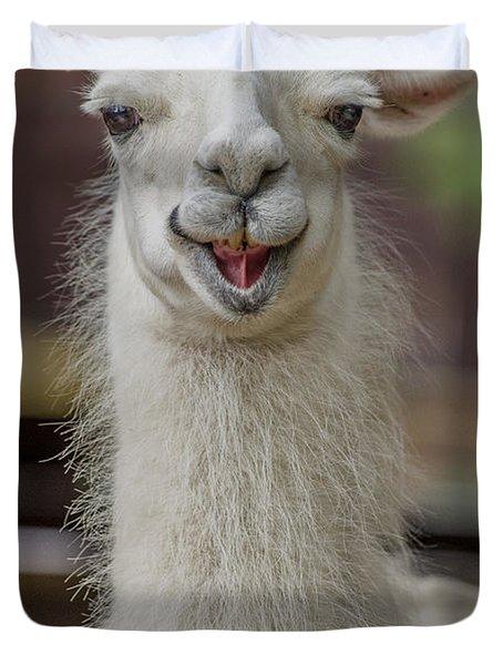 Smiling Alpaca Duvet Cover