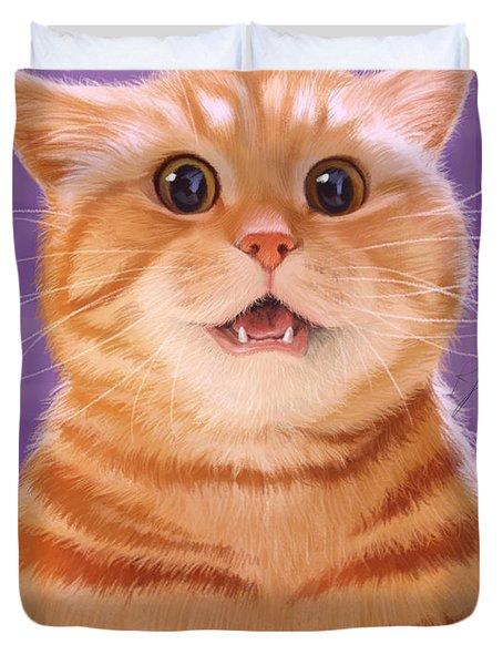 Smiling Cat Duvet Cover