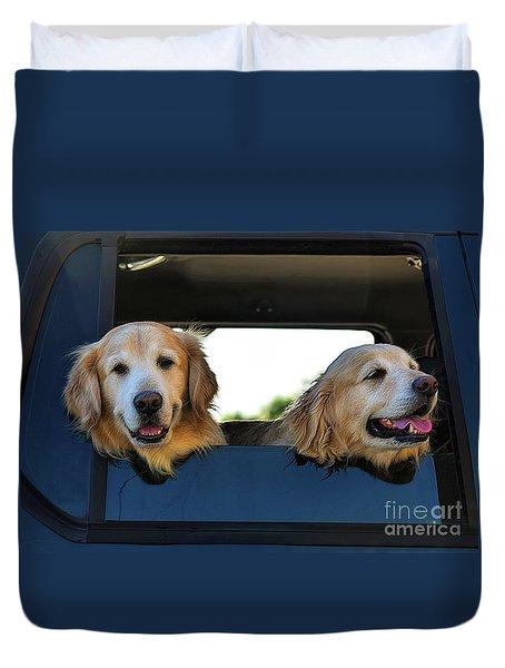 Smiling Dogs Duvet Cover