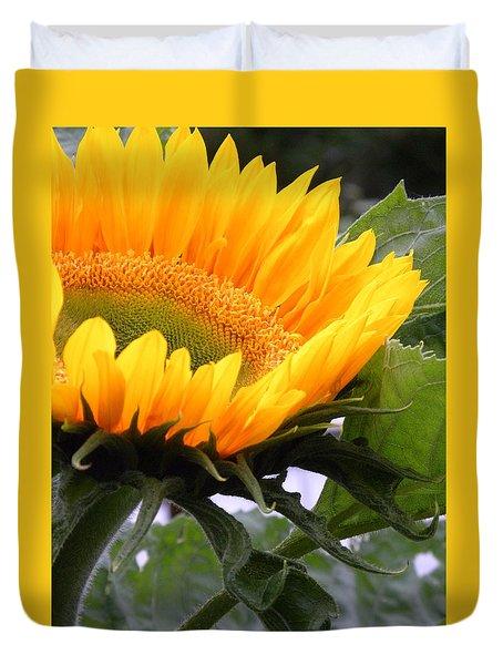 Smiling Flower Duvet Cover