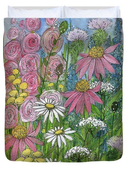 Smiling Flowers Duvet Cover