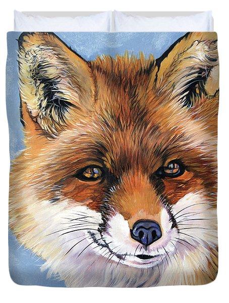 Smiling Fox Duvet Cover