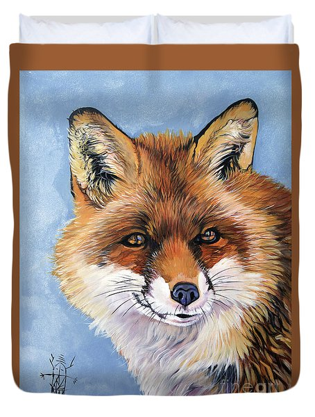 Smiling Fox Duvet Cover