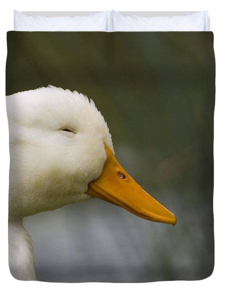 Smiling Pekin Duck Duvet Cover